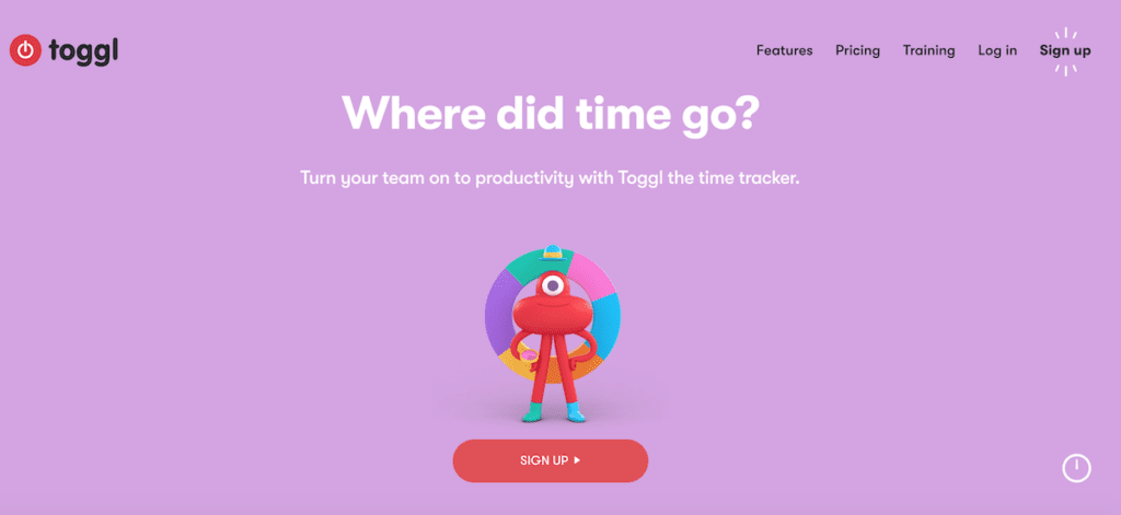 Toggl time card app