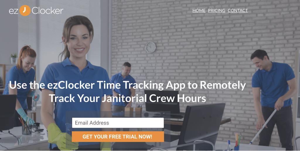 ezclocker janitorial time clock
