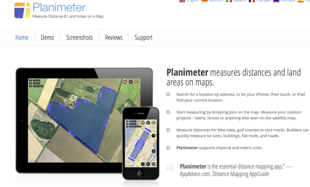 planimeter for landscape
