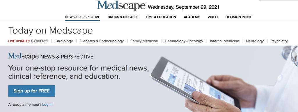 Medscape website